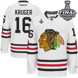 Marcus Kruger Chicago Blackhawks Reebok Authentic 2015 Winter Classic 2015 Stanley Cup Jersey (White)