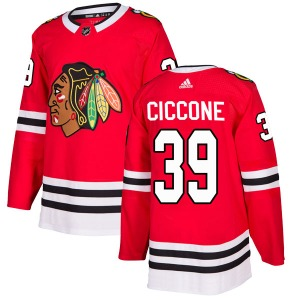 Enrico Ciccone Chicago Blackhawks Adidas Authentic Home Jersey (Red)